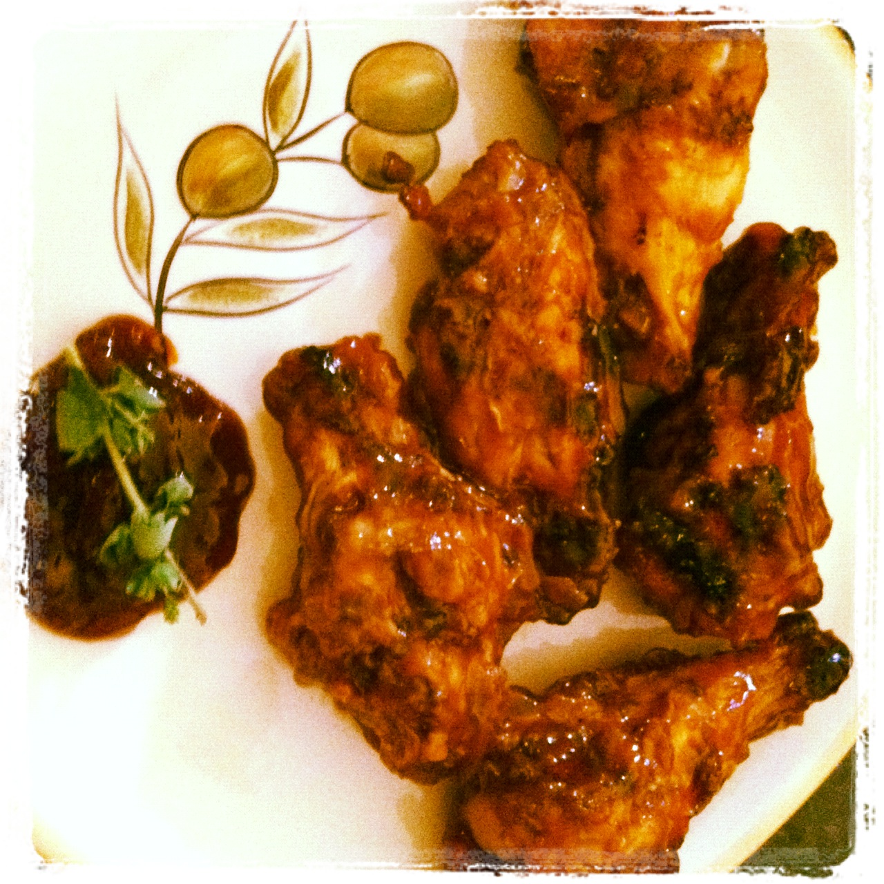 Chicken Wings & Peach Jam